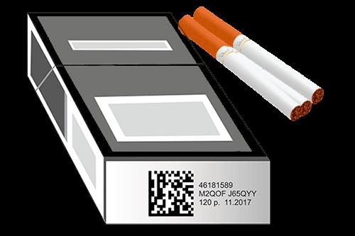 марка с использованием кода идентификации